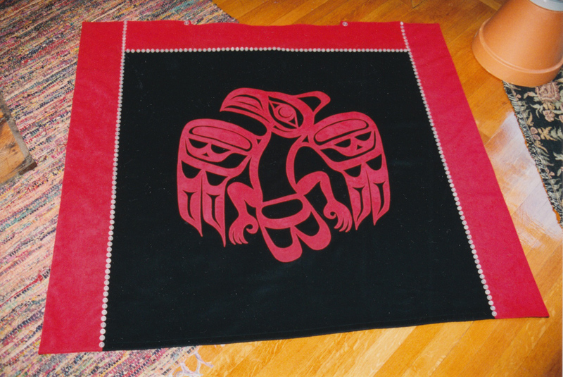 Eagle Button Blanket design by Clayton Gladstone