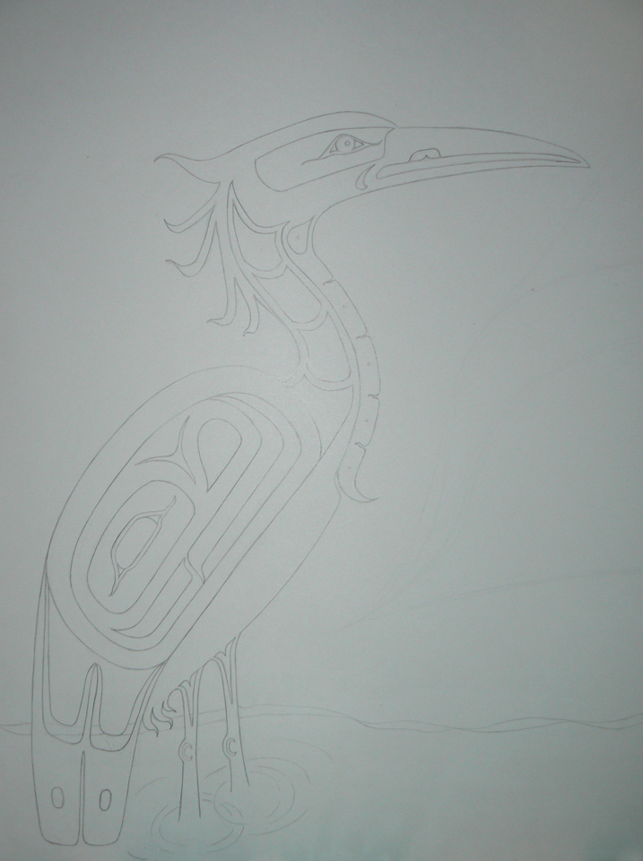 Drawing Heron